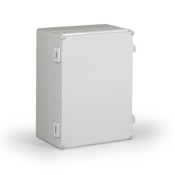 Picture of Polükarbonaatkarp CUBO W 400x300x187mm, IP66/67, halli kaanega, uks hingedel